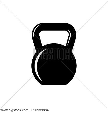 Kettlebell Graphic Icon. Kettlebell Sign Isolated On White Background. Gym Symbol. Vector Illustrati