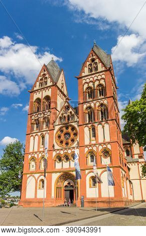 Limburg An Der Lahn, Germany - August 02, 2019: St. George Cathedral In Historic City Limburg An Der
