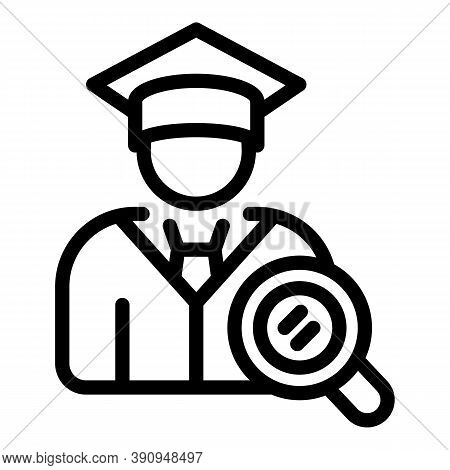 Graduated Student Icon. Outline Graduated Student Vector Icon For Web Design Isolated On White Backg