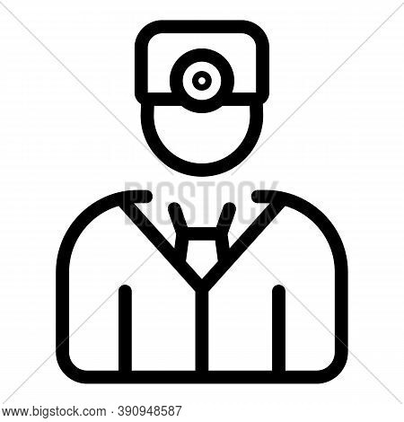 Student Job Doctor Icon. Outline Student Job Doctor Vector Icon For Web Design Isolated On White Bac