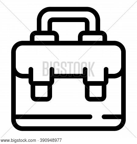 Student Job Case Icon. Outline Student Job Case Vector Icon For Web Design Isolated On White Backgro