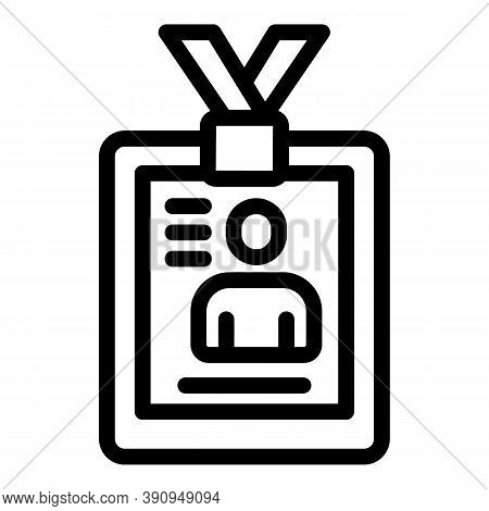 Student Id Job Icon. Outline Student Id Job Vector Icon For Web Design Isolated On White Background