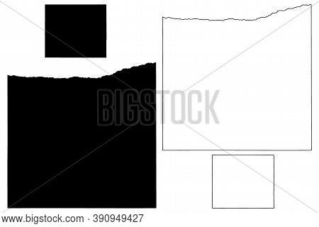 Kearney And Johnson County, Nebraska (u.s. County, United States Of America, Usa, U.s., Us) Map Vect