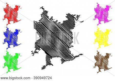 Santiago De Chile City (republic Of Chile, Santiago Metropolitan Region) Map Vector Illustration, Sc