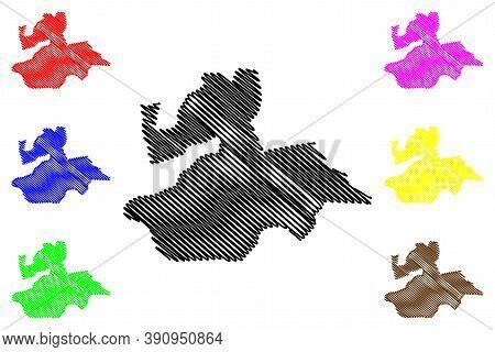 Valencia City (bolivarian Republic Of Venezuela, Carabobo State) Map Vector Illustration, Scribble S