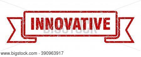 Innovative Ribbon. Innovative Grunge Band Sign. Innovative Banner