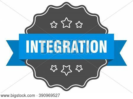 Integration Label. Integration Isolated Seal. Sticker. Sign