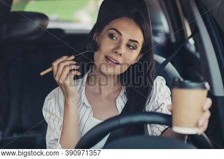Close-up Portrait Of Her She Nice Attractive Charming Gorgeous Glamorous Cheery Busy Successful Busi
