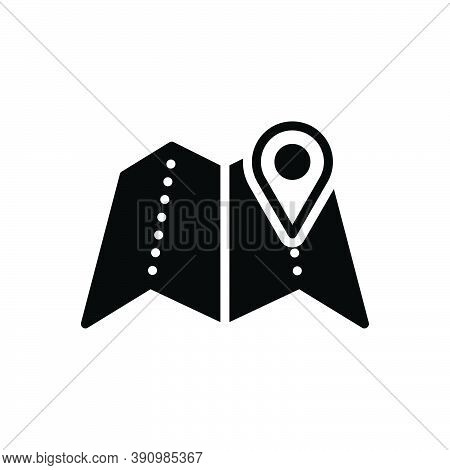 Black Solid Icon For Region Field Zone Scope Realm Area Map Gps Navigation Location Whereabouts