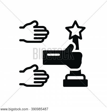 Black Solid Icon For Their Belonging Associated My Mine Of-mine  Hands