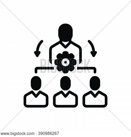 Black Solid Icon For Organize Coordinate Classify Manage Administer Dominate Maintain Supervise