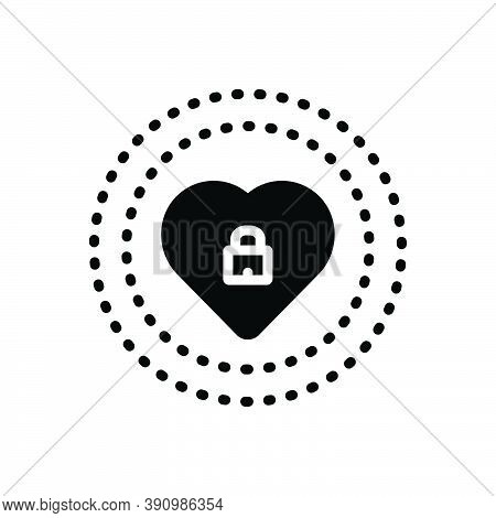 Black Solid Icon For Protect Keep-safe Safe Save Rescue Defence Preserve