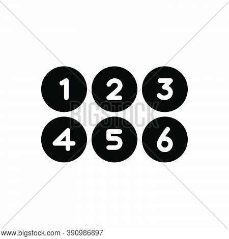 Black Solid Icon For Numerous Umpteen Many Number Digit Collection Count