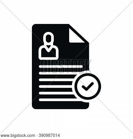 Black Solid Icon For Register Record Put-on-record Enter-file Report  Okay Document Acceptance