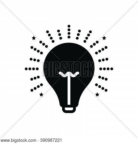 Black Solid Icon For Light Illumination Beacon Lightness Luminosity Radiance Electricity