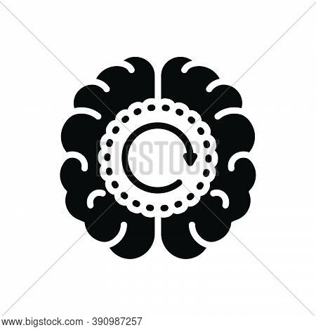 Black Solid Icon For Memory Remembrance Reminiscence Souvenir Retention Flashback Neurology Psycholo