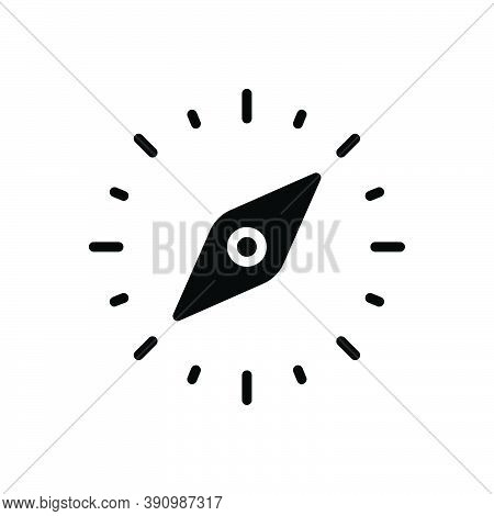 Black Solid Icon For Orientation Guideline Location Adventure Compass Direction Navigation Nautical