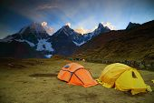 Camping in Cordiliera Huayhuash, Peru, South America poster