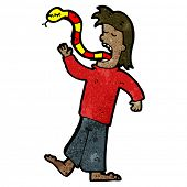 cartoon man with snake for tongue poster