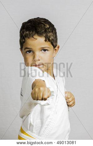 Boy Karate Punch