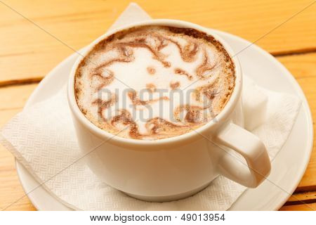 Morning Cup cappuccino with smile