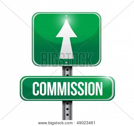 Commission Road Sign Illustration Design