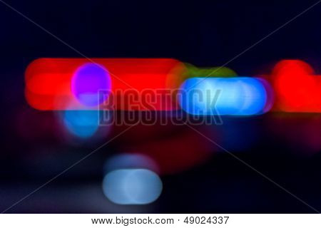 Abstract Pursuit At Night