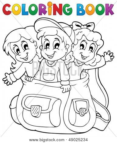 Coloring book kids theme 6 - eps10 vector illustration.