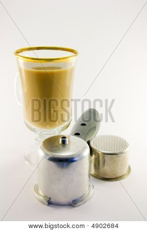 Latte With Coffee Pan