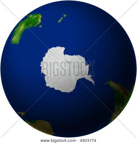 Globe With Antarctica View
