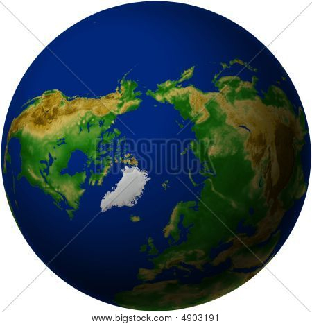Globe With Arctic View