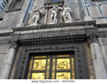 Details on a cathedral in Florence Italy poster