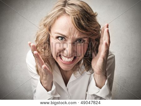 beautiful angry woman