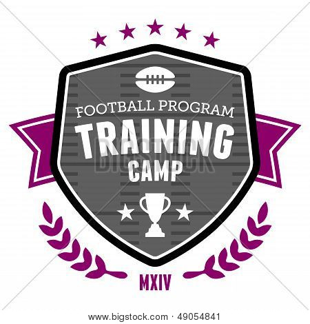 Football Training Camp Emblem