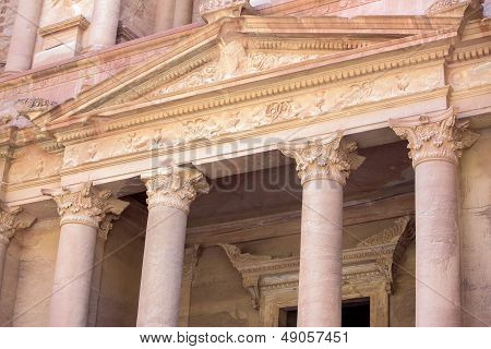 Petra Treasury Closeup