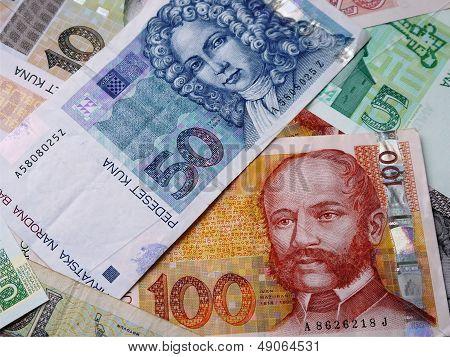 Photo of Croatian banknotes