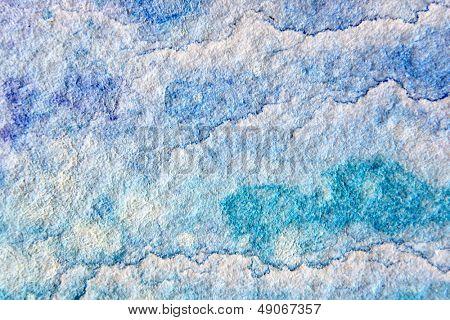Blue Watercolor Cloud Background 3