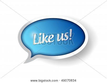Like Us Message Communication Bubble Illustration