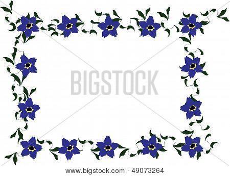 Forget me not floral border