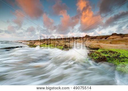 Florida Palm Coast Beach Coquina Rock Sunrise
