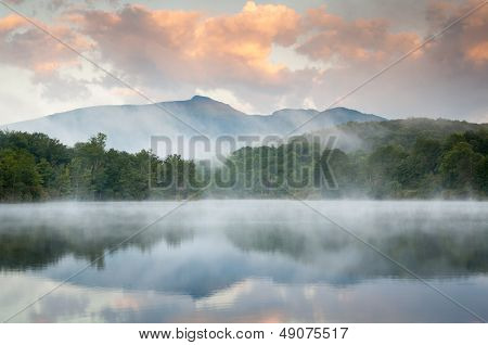 Blue Ridge Mountain Sunrise Reflections