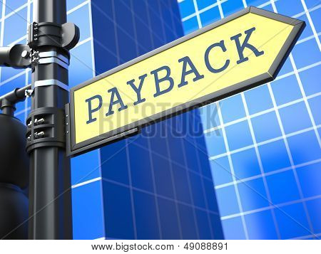 Payback Roadsign. Business Concept.