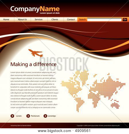 Wave Web Page Template