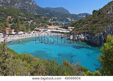 Palaiokastritsa beach at Corfu island