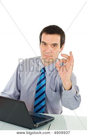 Businessman Show Ok Sign