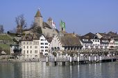 City of Rapperswil in Switzerland promenade at the Zurich lake poster