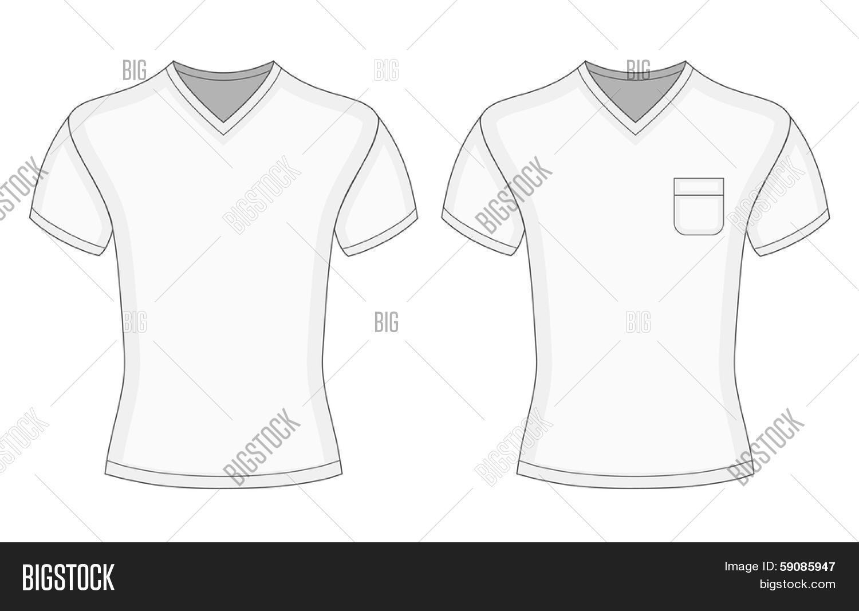 T Shirt V Neck Template