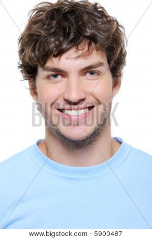 Portrait Of A Smiling Man With Healthy Teeth