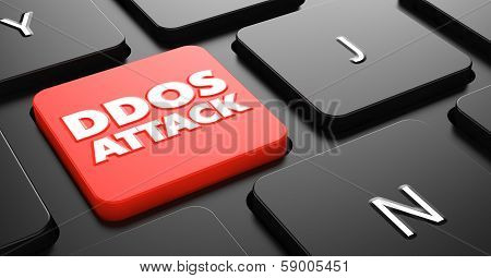 DDOS Attack on Red Keyboard Button.
