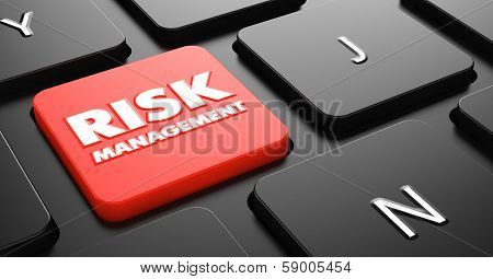 Risk Management on Red Keyboard Button.